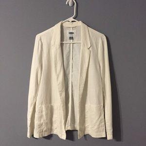 White Linen Blazer sz S ✨